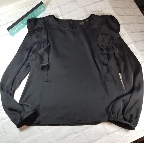 Free Press Tops Clothing Blouse Xl Ruffle Long Sleeve Poshmark